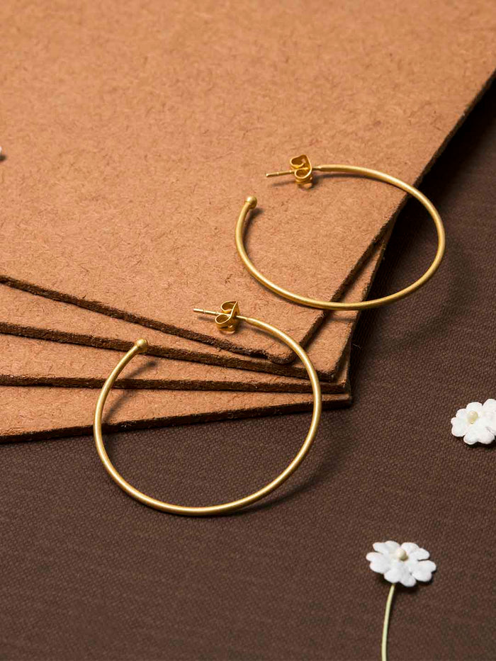 Gold Plated Classic Hoops