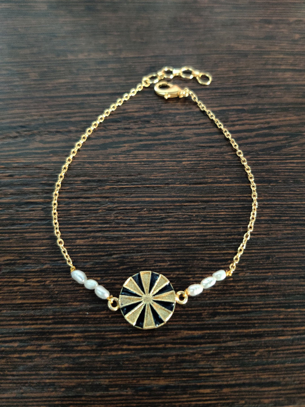 Gold Plated Wheel Bracelet