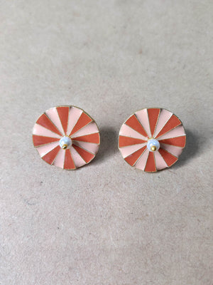 Gold Plated Peach Wheel Studs