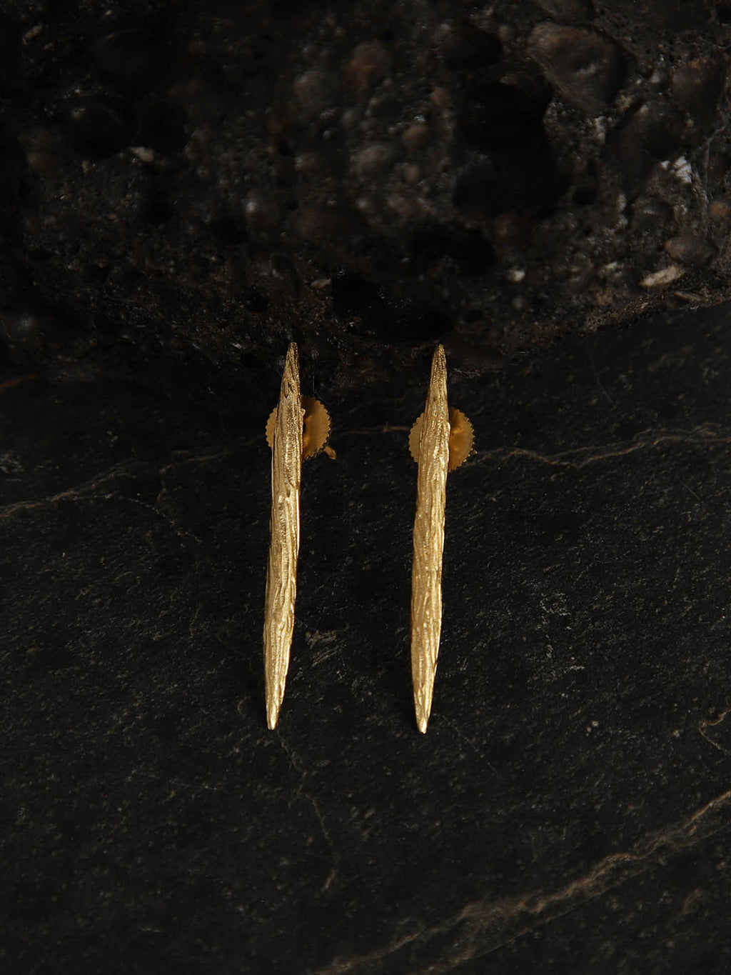 Gold Plated Spear Studs