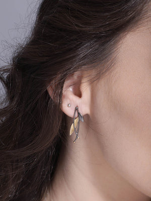 Gold-Rhodium Plated Minimal Studs