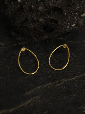Gold Plated Minimal Teardrop Studs