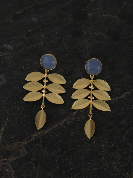 Gold Plated Aqua Drop Danglers
