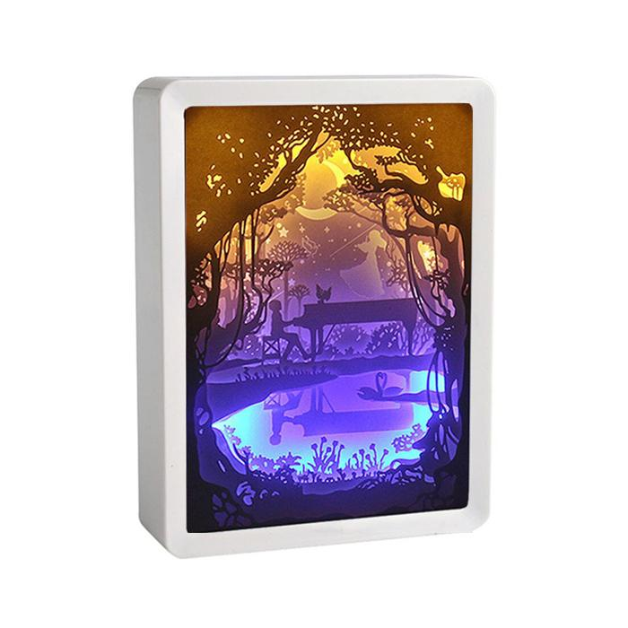 3D Shadow Paper Cut Light Box