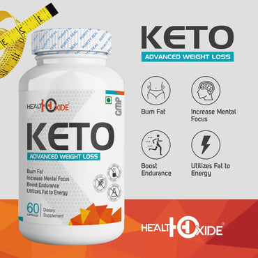 Keto Advanced Weight Loss Supplement   (60 capsules) - HealthOxide