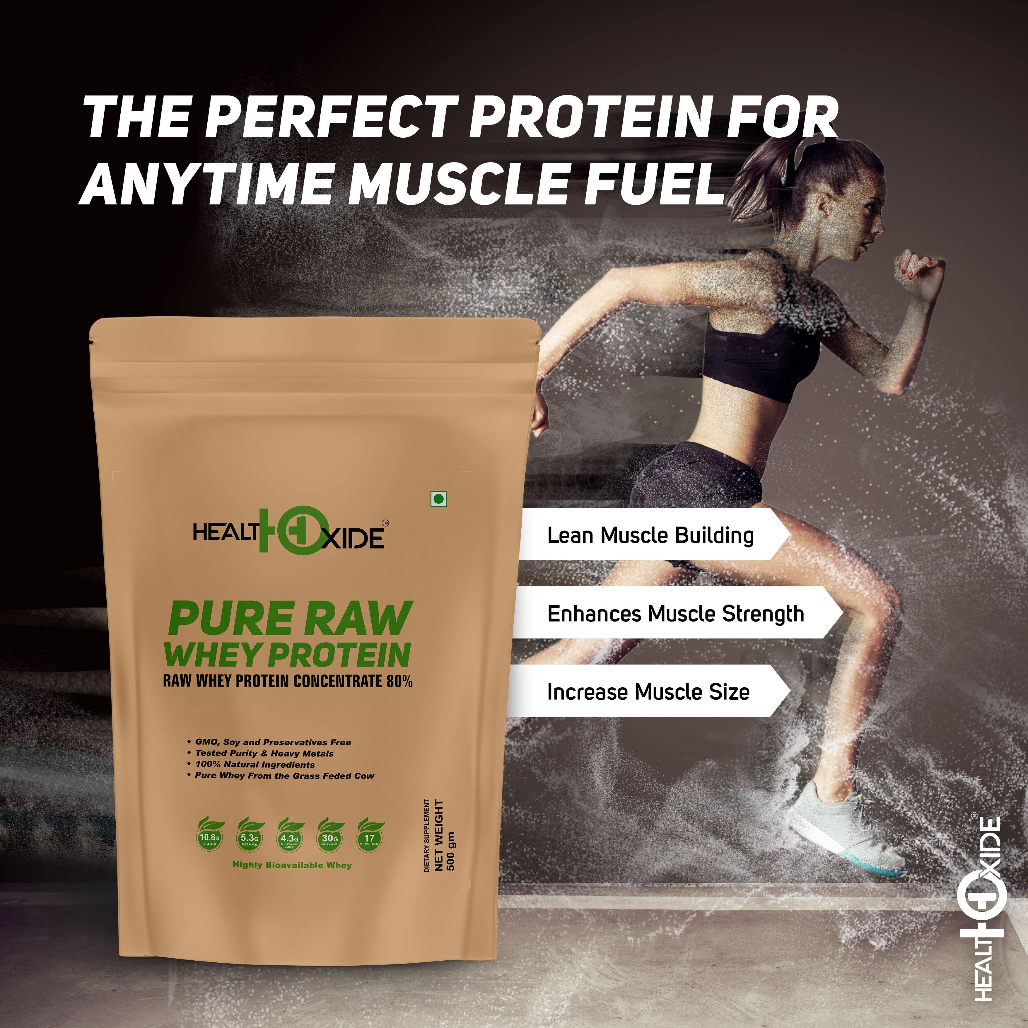 Pure Raw Whey Protein 80% - HealthOxide