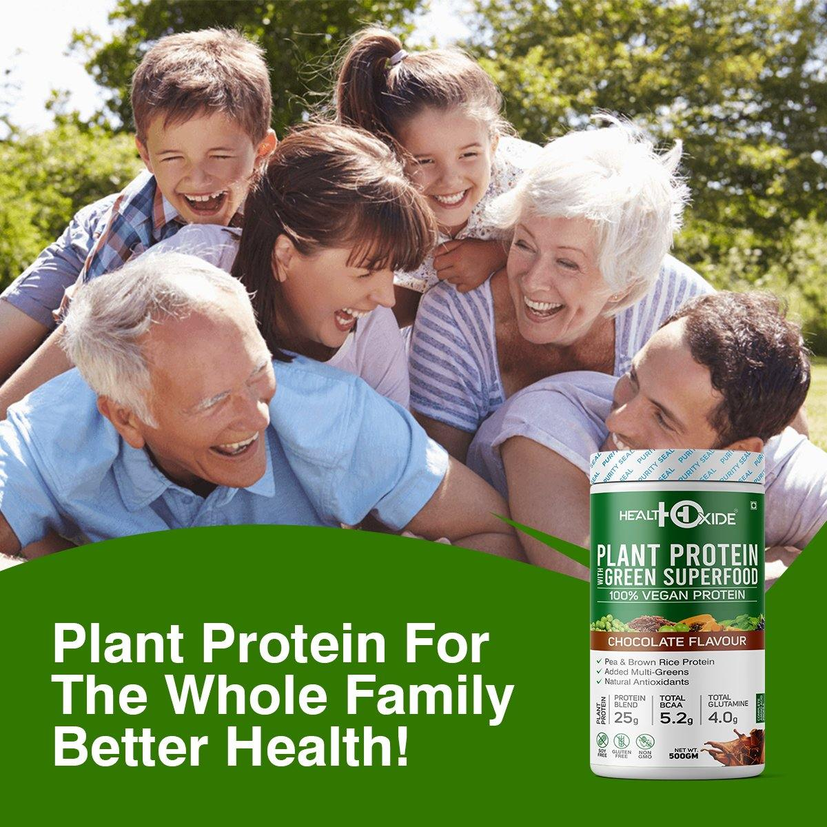Vegan Plant Protein, Herbs, Antioxidants, Digestive Enzymes (Natural Chocolate flavor)