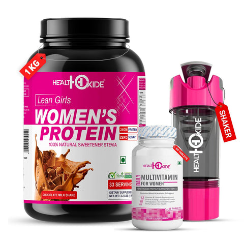 Women's Sports Combo-Womens protein+multivitamin for women+shaker