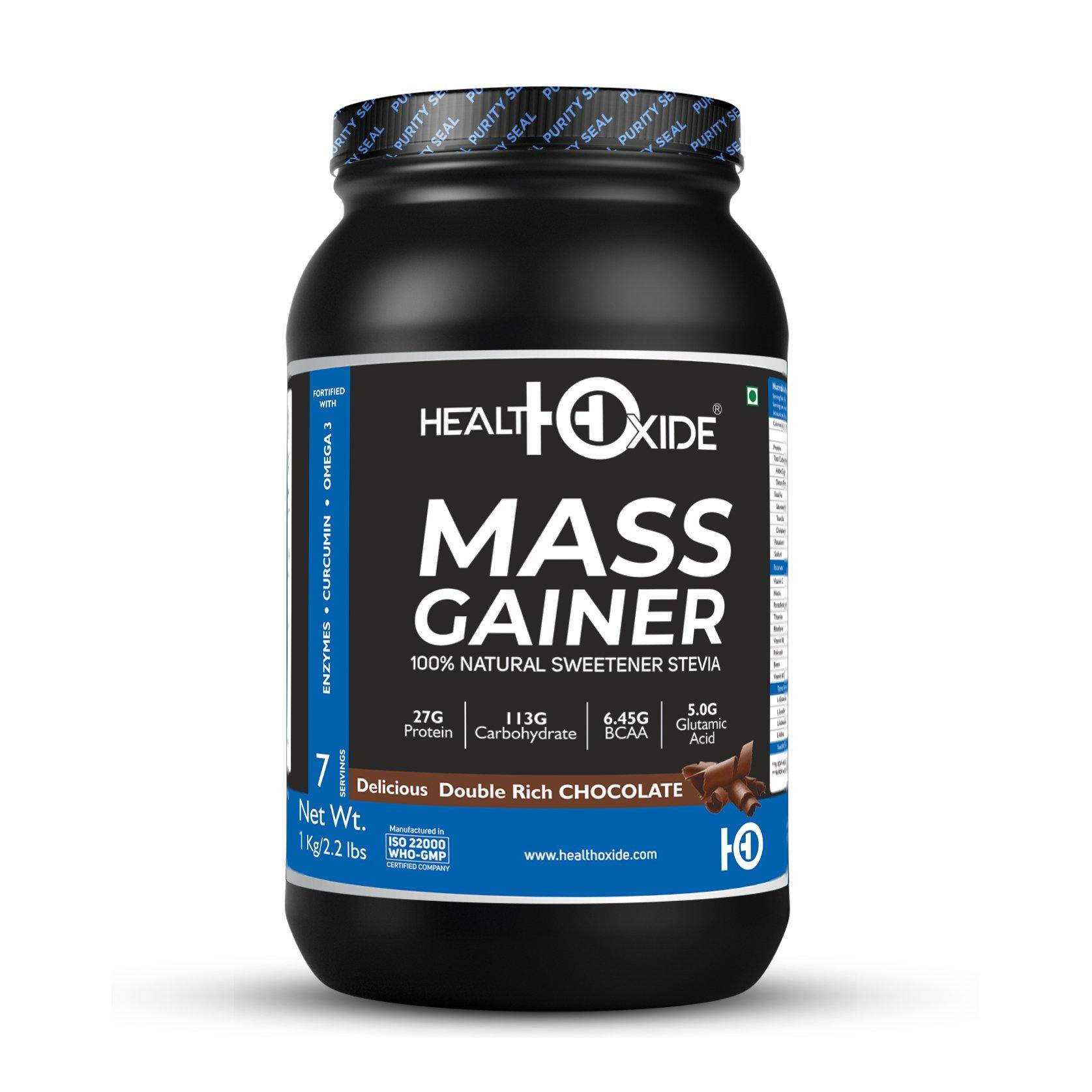 Mass Weight Gainer- 1 kg  (Rich Chocolate) - HealthOxide