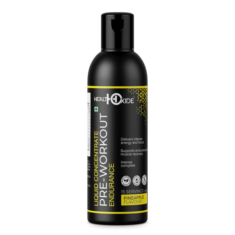 Pre-workout Liquid Concentrate,  (300ml, Pineapple Flavor) - HealthOxide