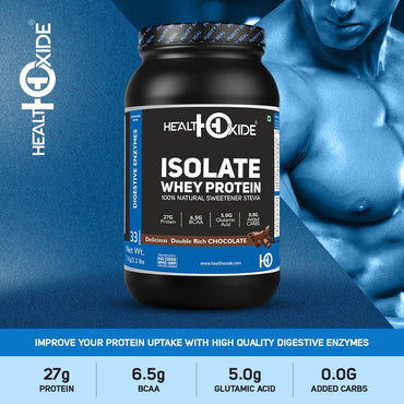 Whey Protein Isolate – 1 kg, 2.2 lbs - HealthOxide