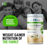 GAINSure Mass and Weight Gainer powder – 500 gms (Cream Vanilla) - HealthOxide