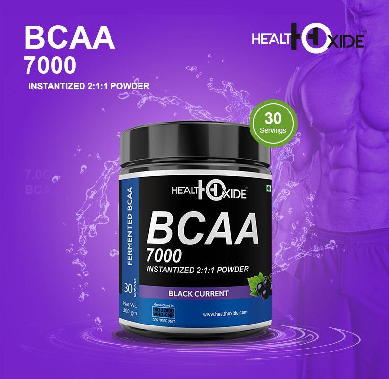 BCAA 7000 Amino Acid Instantized 2:1:1 Powder -300 g - HealthOxide