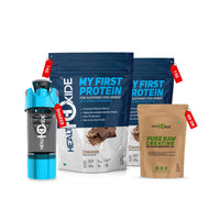 Beginner Combo-My First Protein (Pack Of 2) + Raw Creatine-100GR +GYM Shaker - HealthOxide