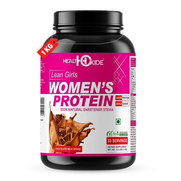 Women's Protein with 100% Natural Sweetener Stevia – 1 kg (Milk Chocolate) - HealthOxide