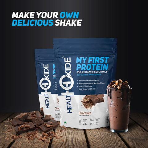 Beginner Combo-My First Protein (Pack Of 2) + Raw Creatine-100GR +GYM Shaker