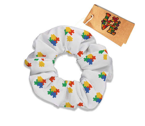 Colored Puzzle Scrunchie