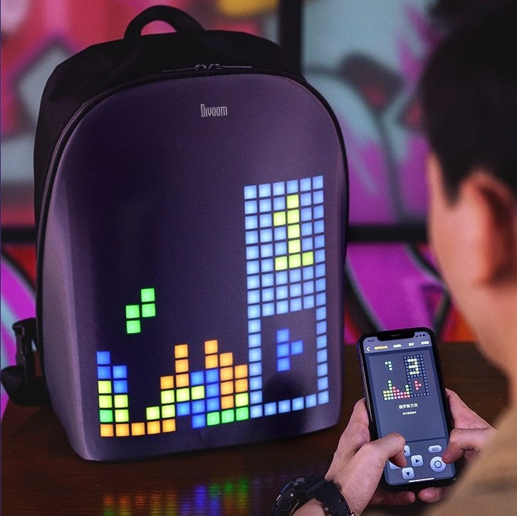 Limited Edition Divoom Pixel Art Backpack
