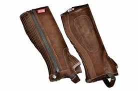 Dever adult Suede 1/2 Chaps Brown
