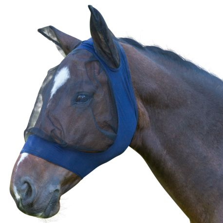 Fino Stretch Blue Fly Mask