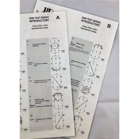 Dressage Single Test Sheets