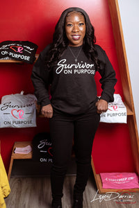 Survivor On Purpose Black Sweatshirt