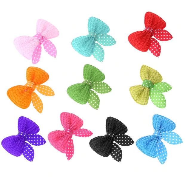 Adorable Hair Clip Grooming Bows 10pcs - Dog Joy Deals