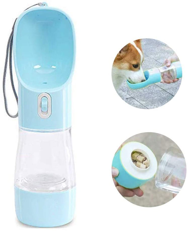 Multifunctional and Portable Dog Travel Water Dispenser with Food Container Suitable for Cats and Puppies - Dog Joy Deals