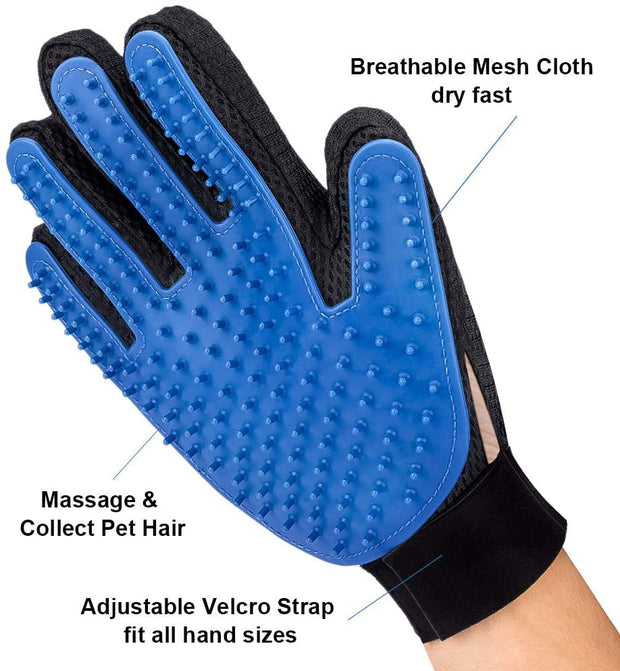 Breathable Dog shedding brush glove for deshedding - Dog Joy Deals