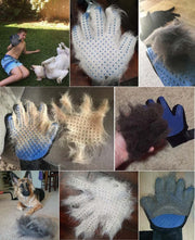 Customers love the Dog shedding brush glove for deshedding - Dog Joy Deals