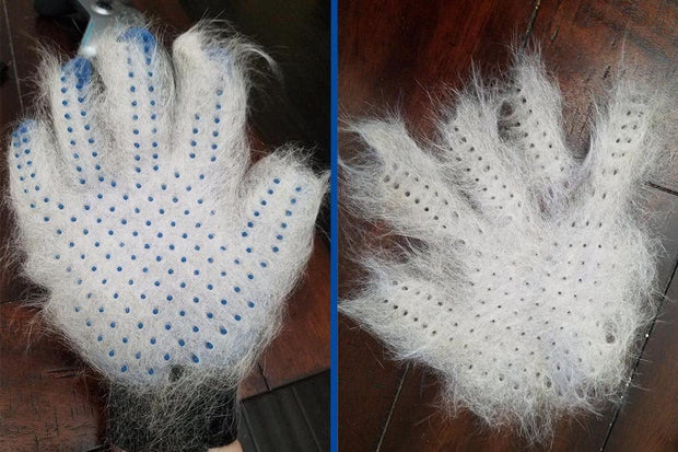 Effective Dog shedding brush glove for deshedding - Dog Joy Deals