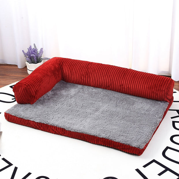Dog Bed Soft Pet Cat Dog Sofa Beds Big Dog Kennel Cushion Mat Puppy German Shepherd L Shaped Couch For Large Small Dogs