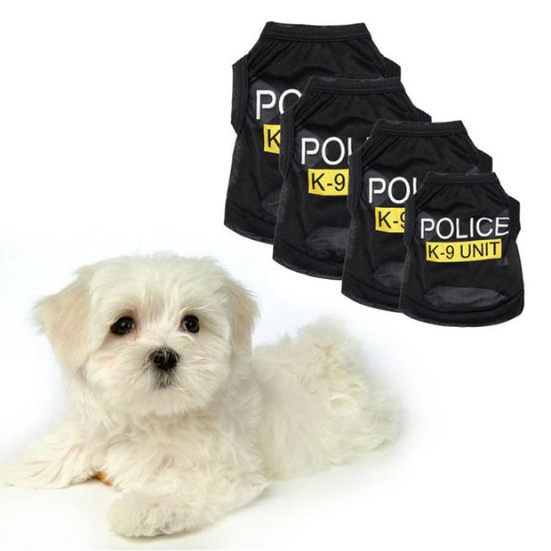 Police Cosplay Cotton Shirt - Dog Joy Deals