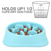Dog Slow Feeder Bowl, Non Slip Puzzle Bowl - Anti-Gulping Pet Slower Food Feeding Dishes - Interactive Bloat Stop Dog Bowls - Durable Preventing Choking Healthy Design Dogs Bowl