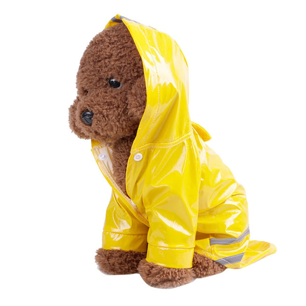 Waterproof Hooded Puppy Raincoat - Dog Joy Deals
