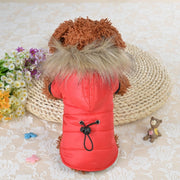 Winter Warm Coat - Soft Fur Hood - Dog Joy Deals