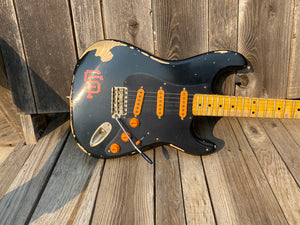 SOLD - Keith Holland Stratocaster San Francisco Giants Theme Custom Guitar 2015 - SOLD