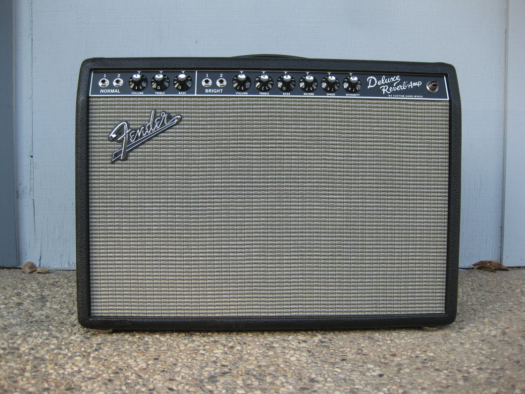 SOLD - Fender 64 Custom Deluxe Reverb guitar amplifier 2018