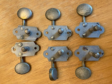 Load image into Gallery viewer, Grover Sta Tite Nickel 3+3 individual tuners 1950's Gretsch, Martin etc