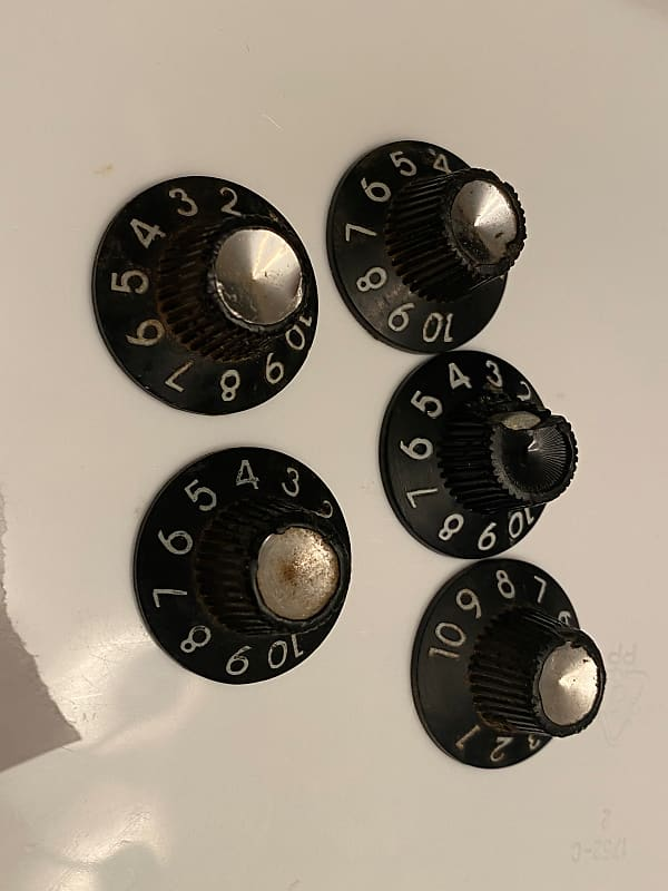 Fender amp knobs, 1966, 1967, 1968, 1969,