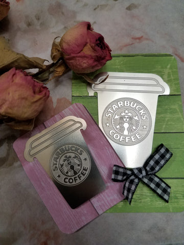 Stainless Steel Starbucks Bookmarks