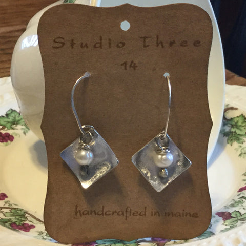 Sterling Silver & Fresh Water Pearls with Aluminum Drops