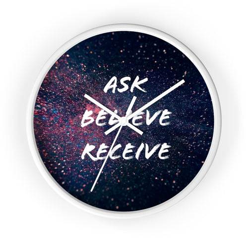 Ask Believe Receive Law of Attraction Clock