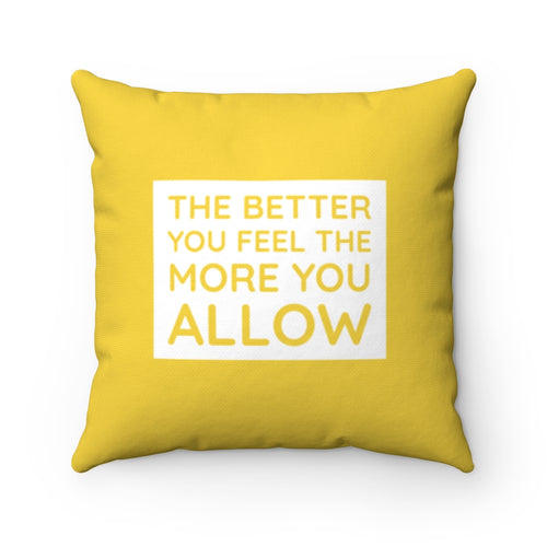 Yellow Law of Attraction Pillow
