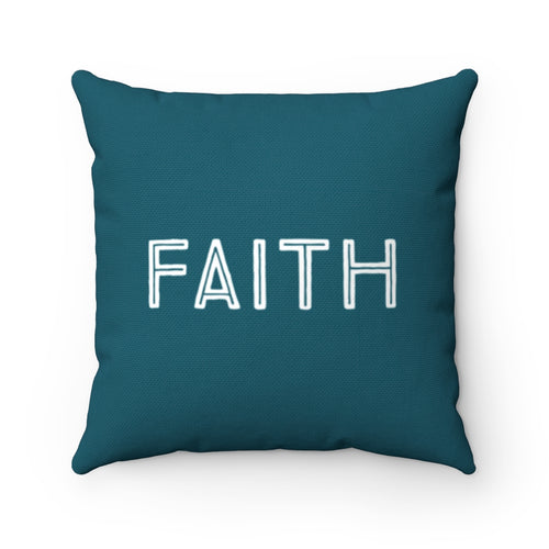 Teal Faith Law of Attraction Pillow