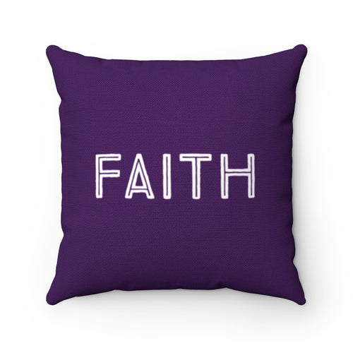 Purple Faith Law of Attraction Pillow