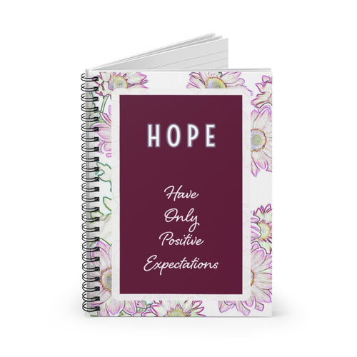 HOPE - Have Only Positive Expectations - Law of Attraction Notebook