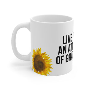 Law of Attraction Mugs - Live With An Attitude Of Gratitude