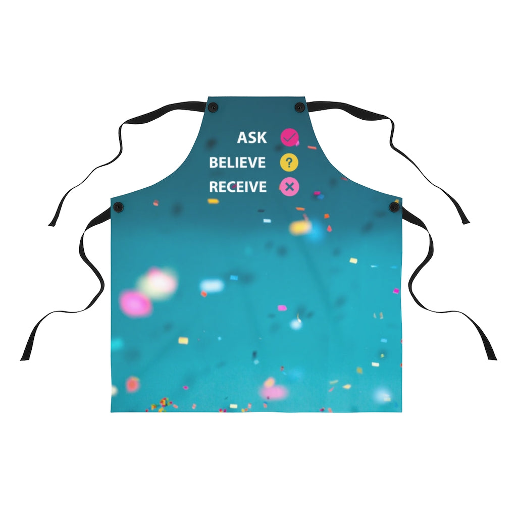 Law of Attraction Apron - Ask Believe Receive