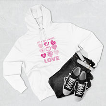 Load image into Gallery viewer, White Hoodie - Law of Attraction - Love